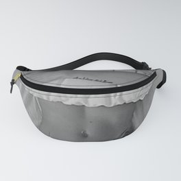 Mission: Get out of bed ... Status: Close enough! black and white morning photograph / photography Fanny Pack