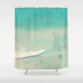 beach summer waves Shower Curtain