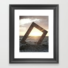 Picture Perfect Beach  Framed Art Print