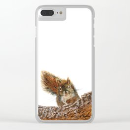 Cheeky the Red Squirrel by Teresa Thompson Clear iPhone Case