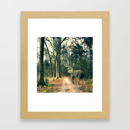 MISPLACED Framed Art Print