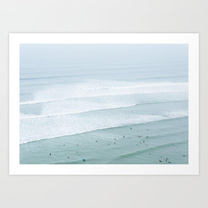 Tiny Surfers from the Sky 3, Lima, Peru Art Print