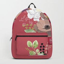 Anemones & Gardenia pink bouquet Backpack
