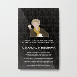 A Scandal in Belgravia - Mrs Hudson Metal Print