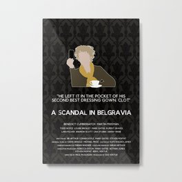 A Scandal in Belgravia - Mrs Hudson Metal Print