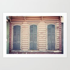 Three Shutters - New Orleans French Quarter Art Print