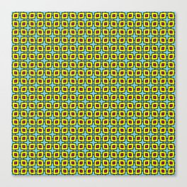 Yellow and Violet Cartoon Diamond Pattern Canvas Print