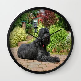 Garden Portrait of Izzy Wall Clock