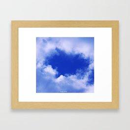 Broken Hearted on Cloud Nine Framed Art Print