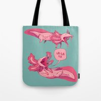musa Tote Bags featuring axololtls by musa