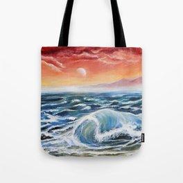 Coming Waves Tote Bag