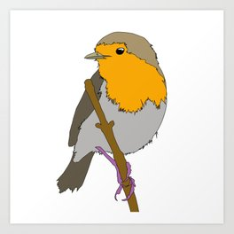 Cartoon Robin Art Print