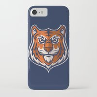 shield iPhone & iPod Cases featuring Tiger Shield by WanderingBert / David Creighton-Pester