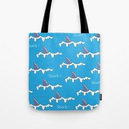 Shark fin pattern Tote Bag