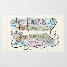 Art Enables Us Rug