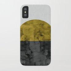 Minimalist landscape watercolor VII Slim Case iPhone X