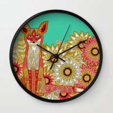 garden fox Wall Clock