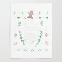 Pet Pig Christmas Ugly Pot Bellied Pig Shirt Poster