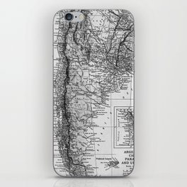 Vintage Map of Argentina (1911) iPhone Skin