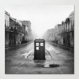 Tardis And The Old City Canvas Print
