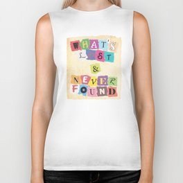 What's Lost & Never Found Biker Tank