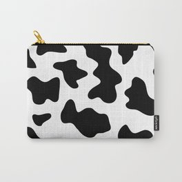 black and white ranch farm animal cowhide western country cow print Carry-All Pouch