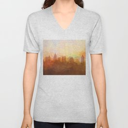 Atlanta, Georgia Skyline - In the Clouds Unisex V-Neck
