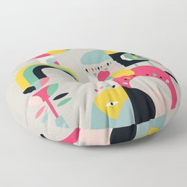 Jungle of elephants Floor Pillow
