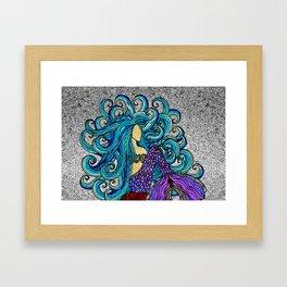 2017 Blue Mermaid Framed Art Print