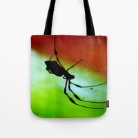 spider Tote Bags featuring spider by lennyfdzz