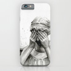 Weeping Angel Watercolor Painting iPhone 6 Slim Case