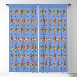 Poodle Dee Doo Two Blackout Curtain