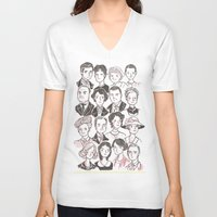 downton abbey V-neck T-shirts featuring Downton Abbey by giovanamedeiros