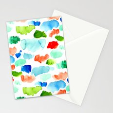Watercolor Swatch Pattern Stationery Cards