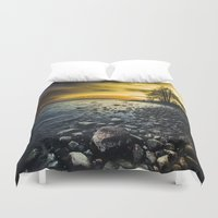 outdoor Duvet Covers featuring Aureus by HappyMelvin