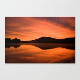 Dawn on Fire: Lac du Saint Sacrement Canvas Print
