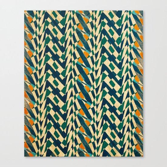 Braiding Colors Canvas Print