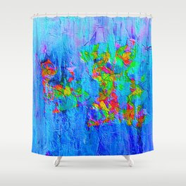 Blue Wash Jazzy Abstract Shower Curtain