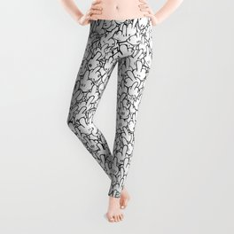 Middle fingers of Mickey Mouse Leggings