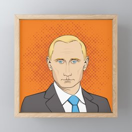 Vladimir Putin portrait Framed Mini Art Print