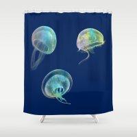 jellyfish Shower Curtains featuring Jellyfish by Vitta