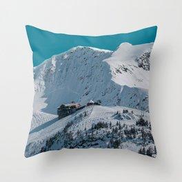 Mt. Alyeska Ski Resort - Alaska Throw Pillow