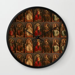 "Sandro Botticelli and Piero del Pollaiolo ""Theological and cardinal virtues"" Wall Clock"