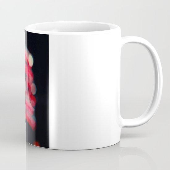 Red, White, and Bokeh Mug
