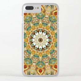 Flower Of Life Mandala (Sundial) Clear iPhone Case