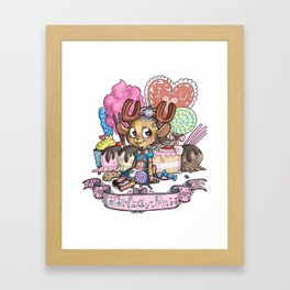 cotton candy prince Framed Art Print