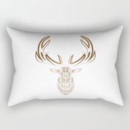 Abstract Elk Trippy Linework Rectangular Pillow