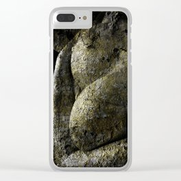 Hard as stone Clear iPhone Case
