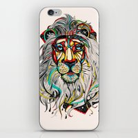 yellow iPhone & iPod Skins featuring Lion by Felicia Atanasiu