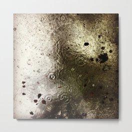 Rain & Leaves Metal Print